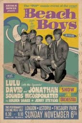 BEACH BOYS LIVE IN LONDON - LARGE POSTER