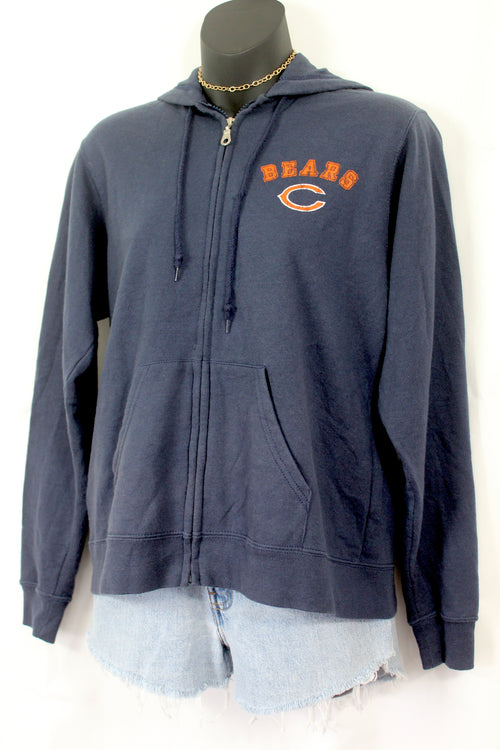 VINTAGE CHICAGO BEARS ZIP UP HOODIE (S)