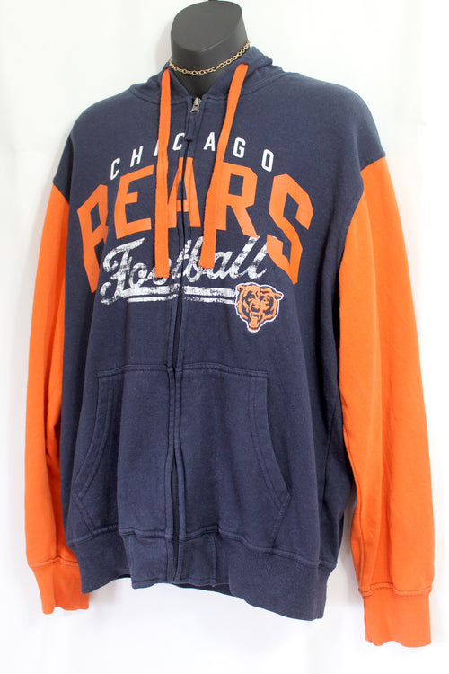 VINTAGE CHICAGO BEARS FOOTBALL ZIP UP HOODIE (M/L)