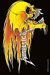 METALLICA FLAMING SKULL - LARGE POSTER