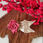 Christmas Rose Hairclip