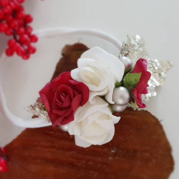 Christmas Rose Headband
