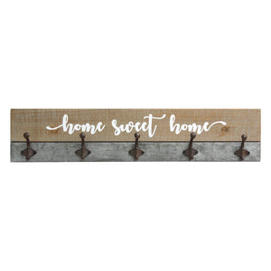 Distressed Wood Rustic Home Wood Hooks