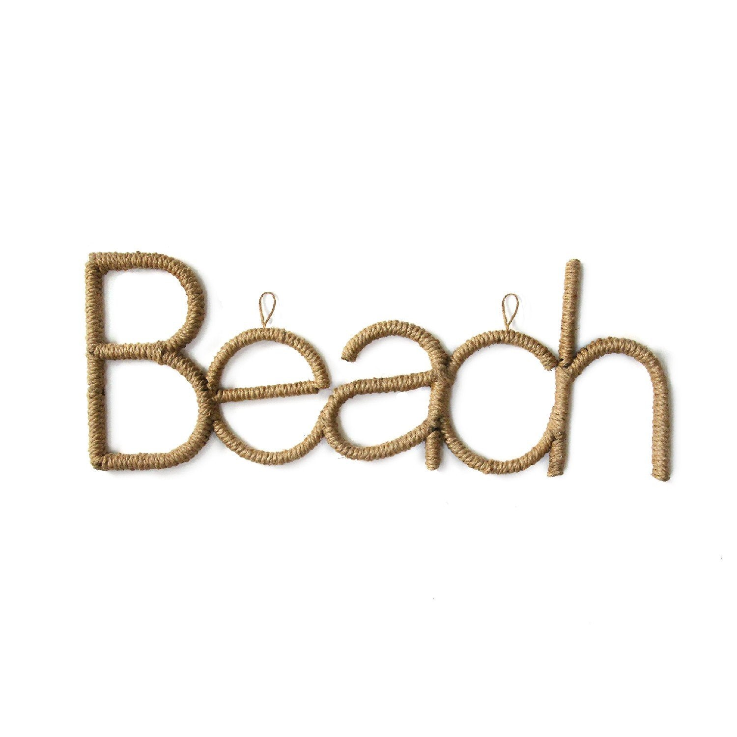 Brown  Metal Rope Beach Sign