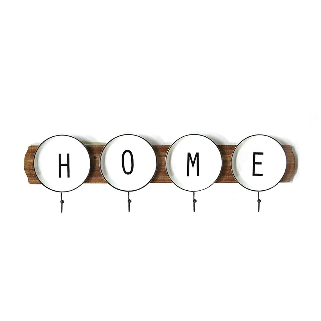 "28.3"" X 1.57"" X 9"" Multi Wood Metal Coat Rack"