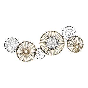 Multi Metal Rattan Wall Décor