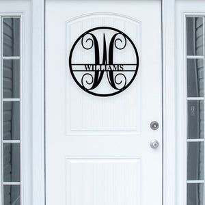 Circle Vine Monogram - Metal Wall Art Decor