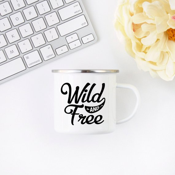 Enamel Adventure Mug. Wildlife