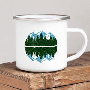 Enamel Travel Mug, Mountain