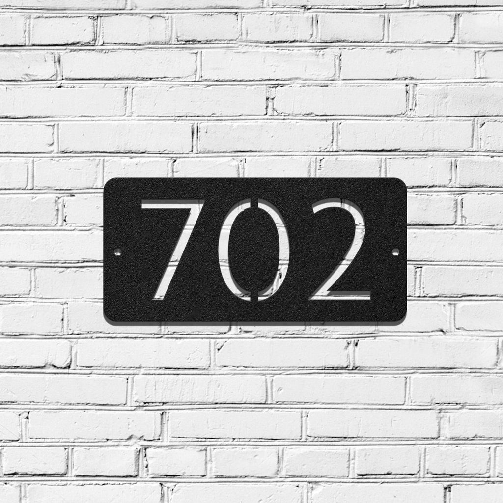 Metal House Address Sign - Horizontal Style 5