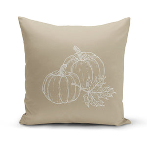 Beige Pumpkins Pillow Cover