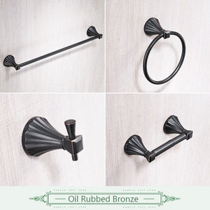 Fluted Bathroom Hardware Set