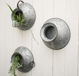 Rustic Wall Hanging Metal Planter