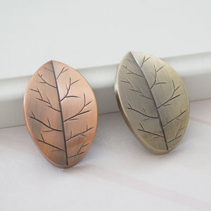 Bronze Leaf Drawer Knobs Pulls