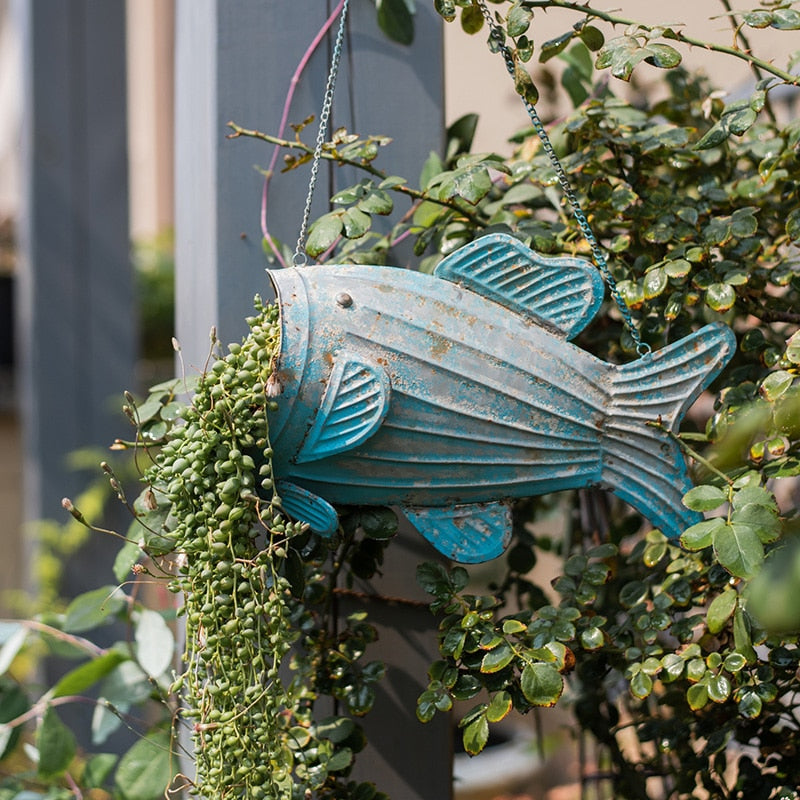 Hanging Garden Fish Flower Pots