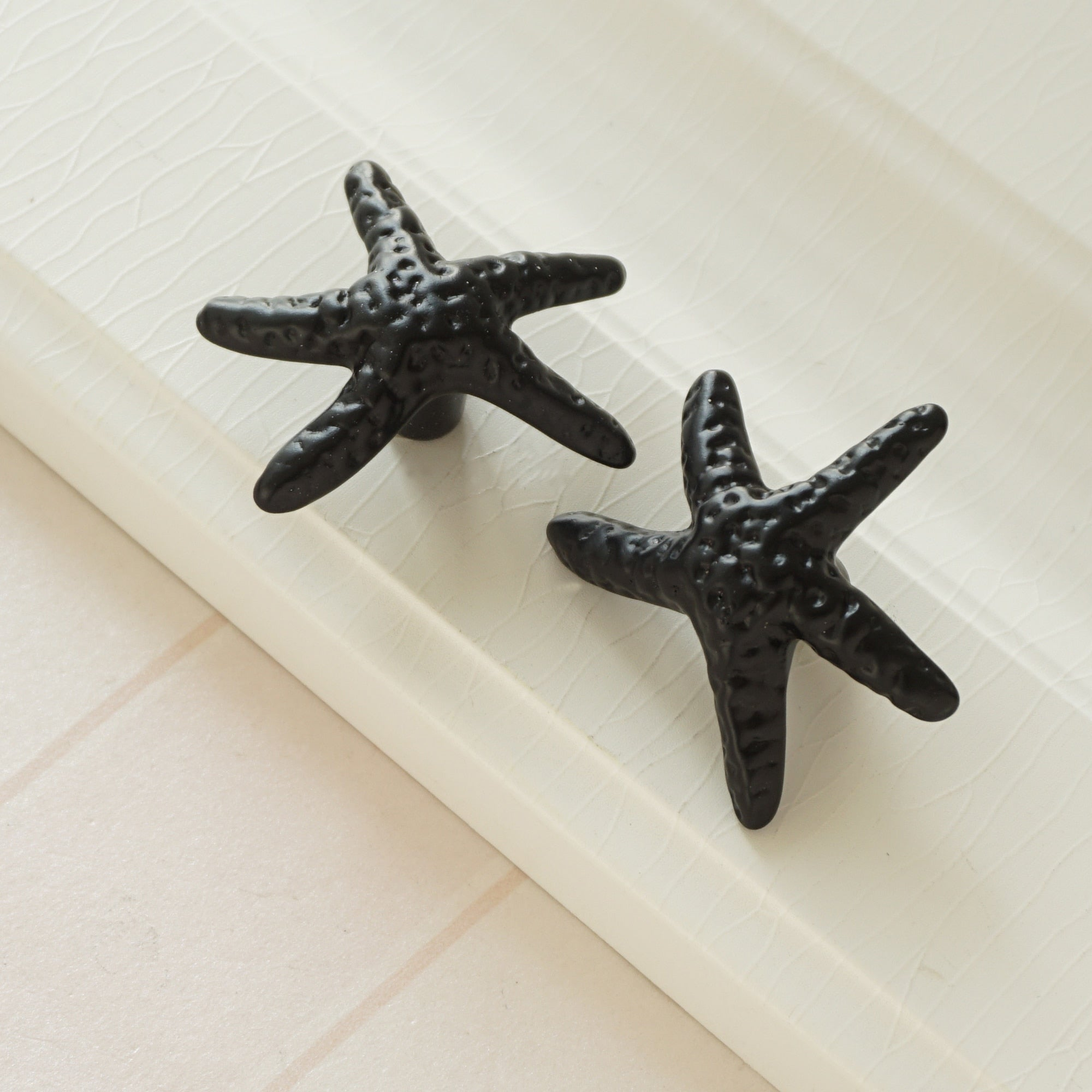 Black Starfish Dresser Drawer Knobs