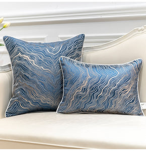 Luxury Jacquard Trees Striped Throw Pillow Cushion Covers