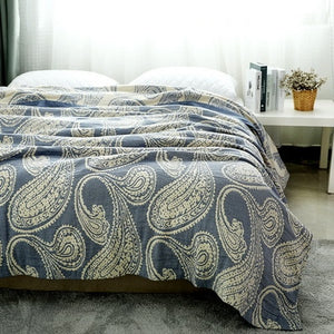 Chic Paisley Cotton Muslin Blanket