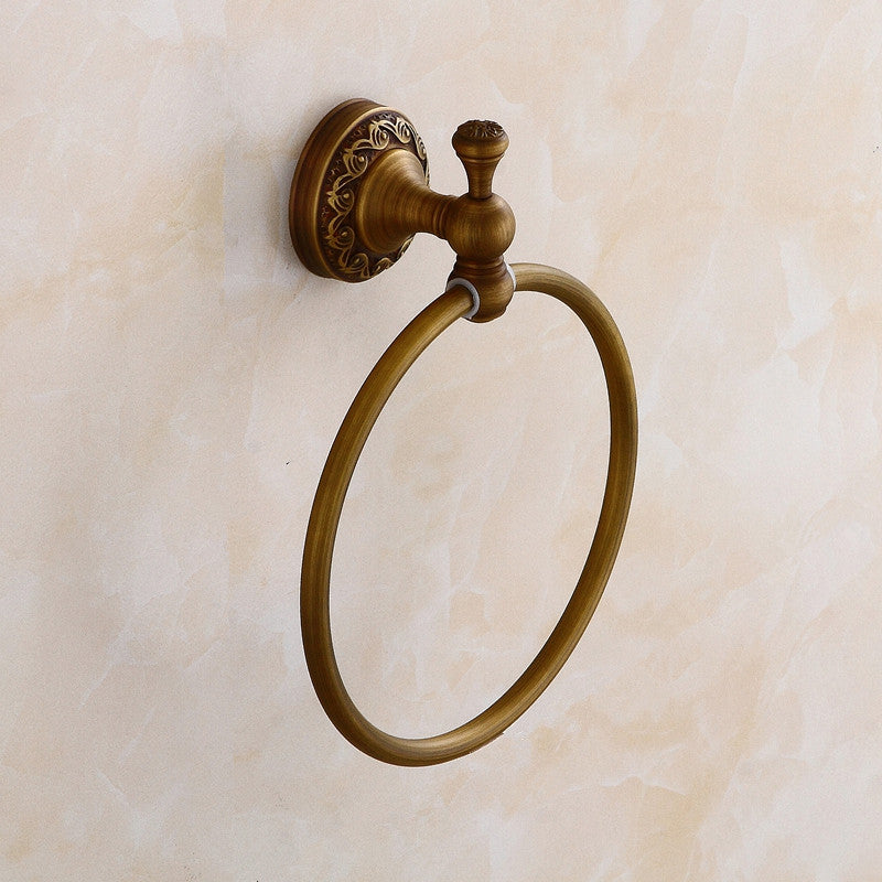 Antique Brass Towel Ring