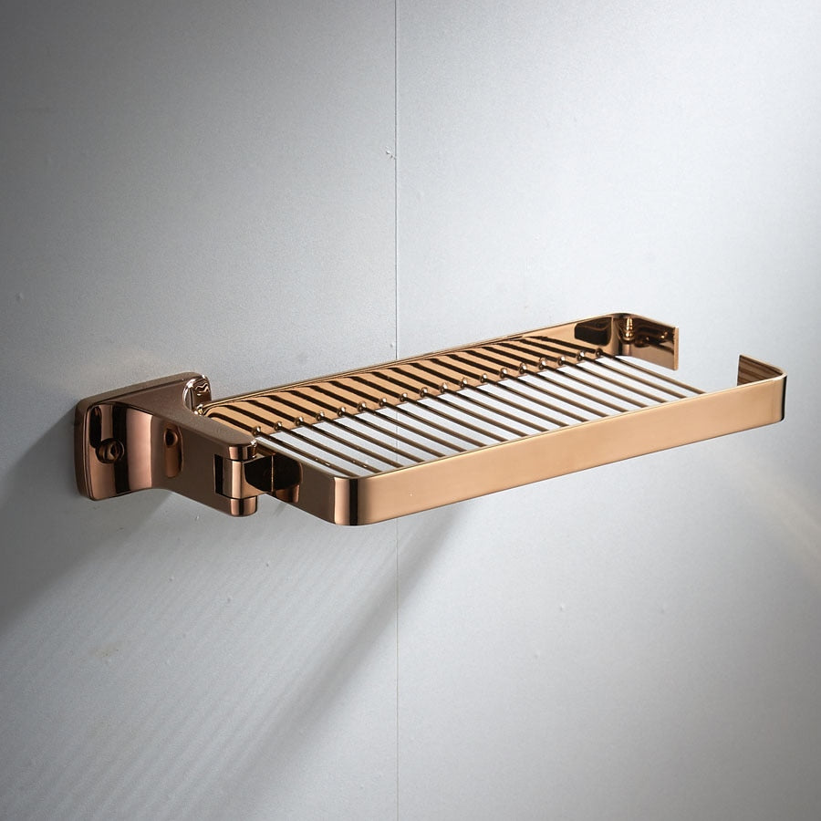 Luxury Swivel Organizer Shelf, Rose Gold