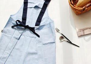 Solid Color Linen Cotton Apron
