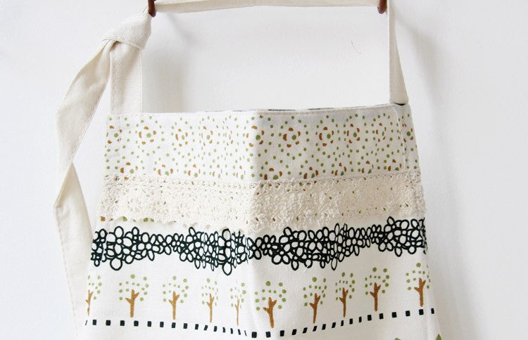 Printed Cotton Kitchen Pocket Halterneck Apron