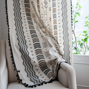 Bohemian Chic Tassel Embellished Curtain