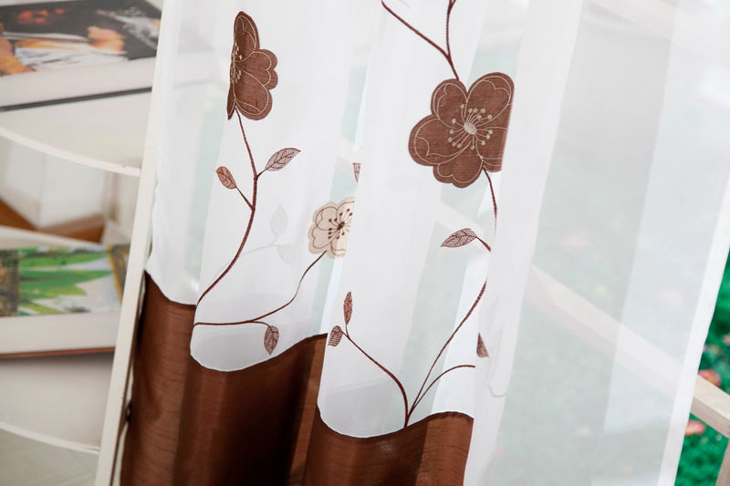 Embroidered Floral Panel Curtain