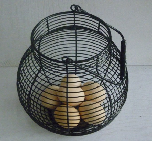 Portable Iron Egg Wire Storage Basket