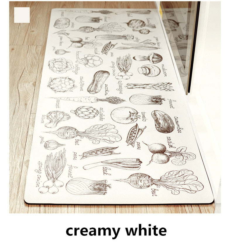 Kitchen Mats with Vegetable Prints Drawings