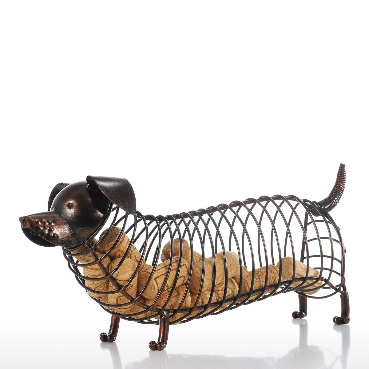 Iron Dachshund Bottle Cork Container