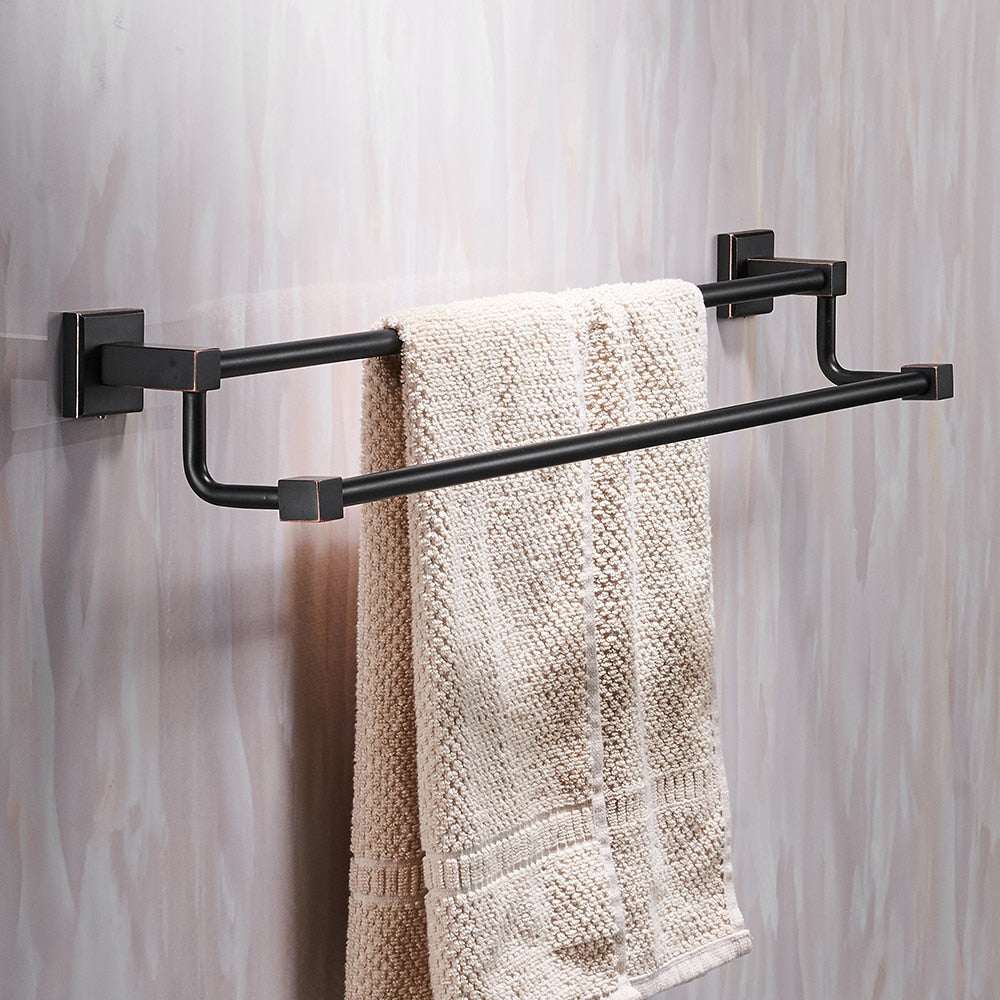 Towel Rack, Solid Brass Vintage Style