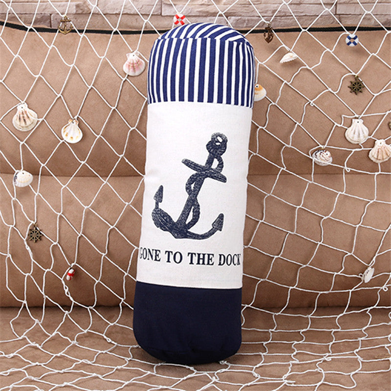 Nautical Sea Anchor Linen Cotton Cushion