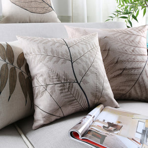Vintage Fern Leaves Pillow Cushion Cover