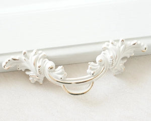 White Gold Rustic Drawer Pull Knob