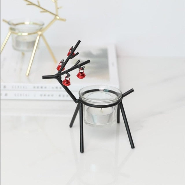 Wrought Iron Deer  Candle Holder