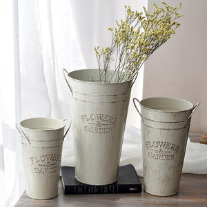 Antique Brush Flower Pots