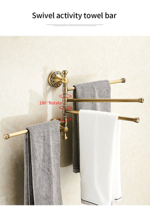 Antique Brass Towel Holder Rack, 3-4 Tiers