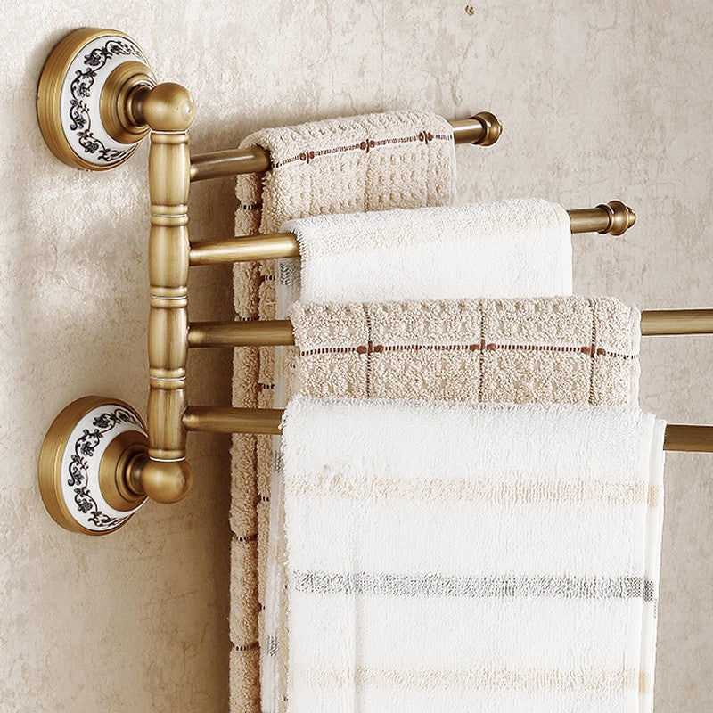 Antique Brass  Flexible Wall Mounted Towel Bar Hooks