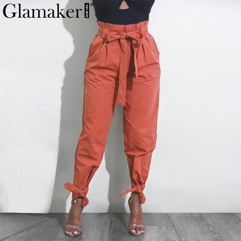 Womens Loose Ruffle Pants