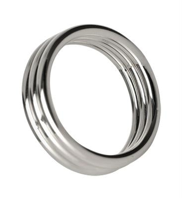 Echo 1.75 Inch Stainless Steel Triple Cock Ring - Euphoria Mega Adult Store