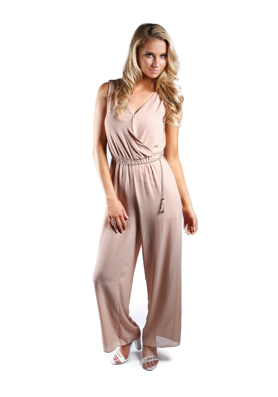 Wide Leg Chain Jumpsuit