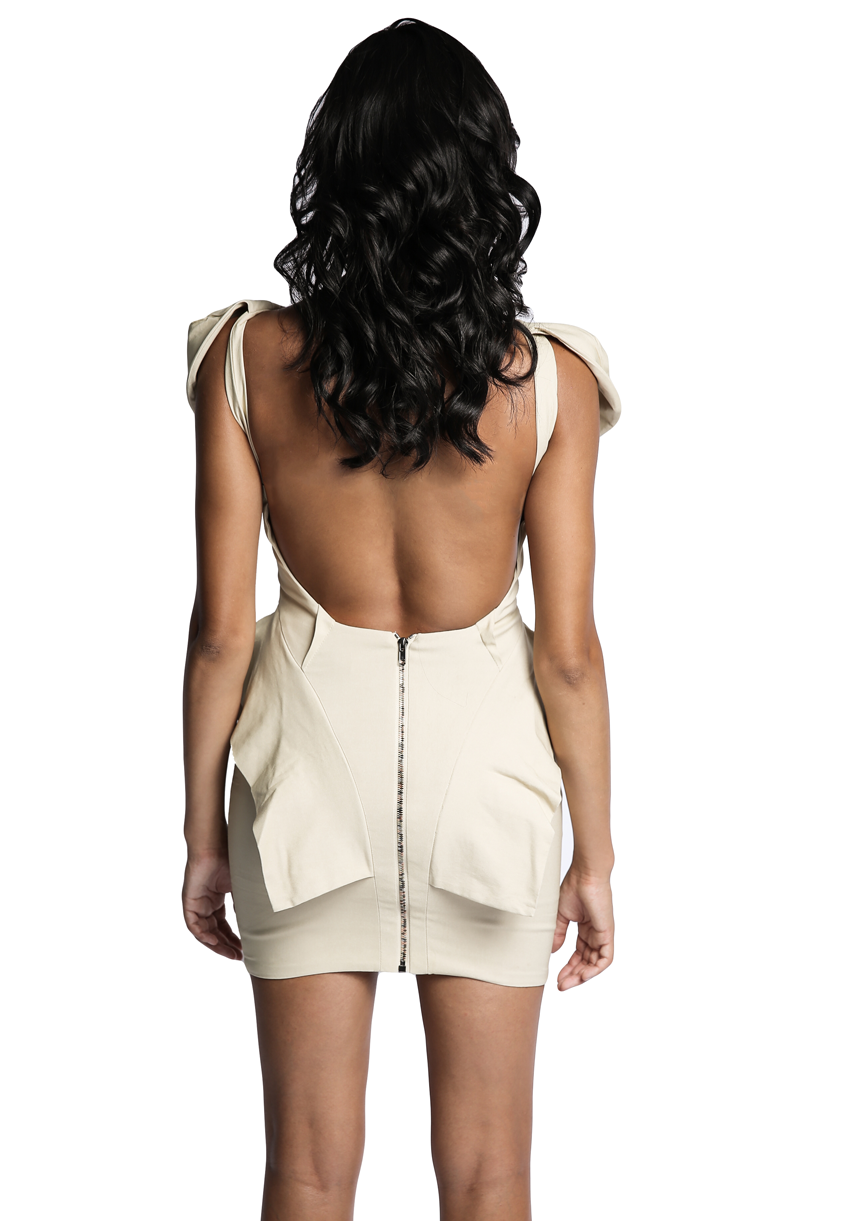 Open Back Peplum Dress