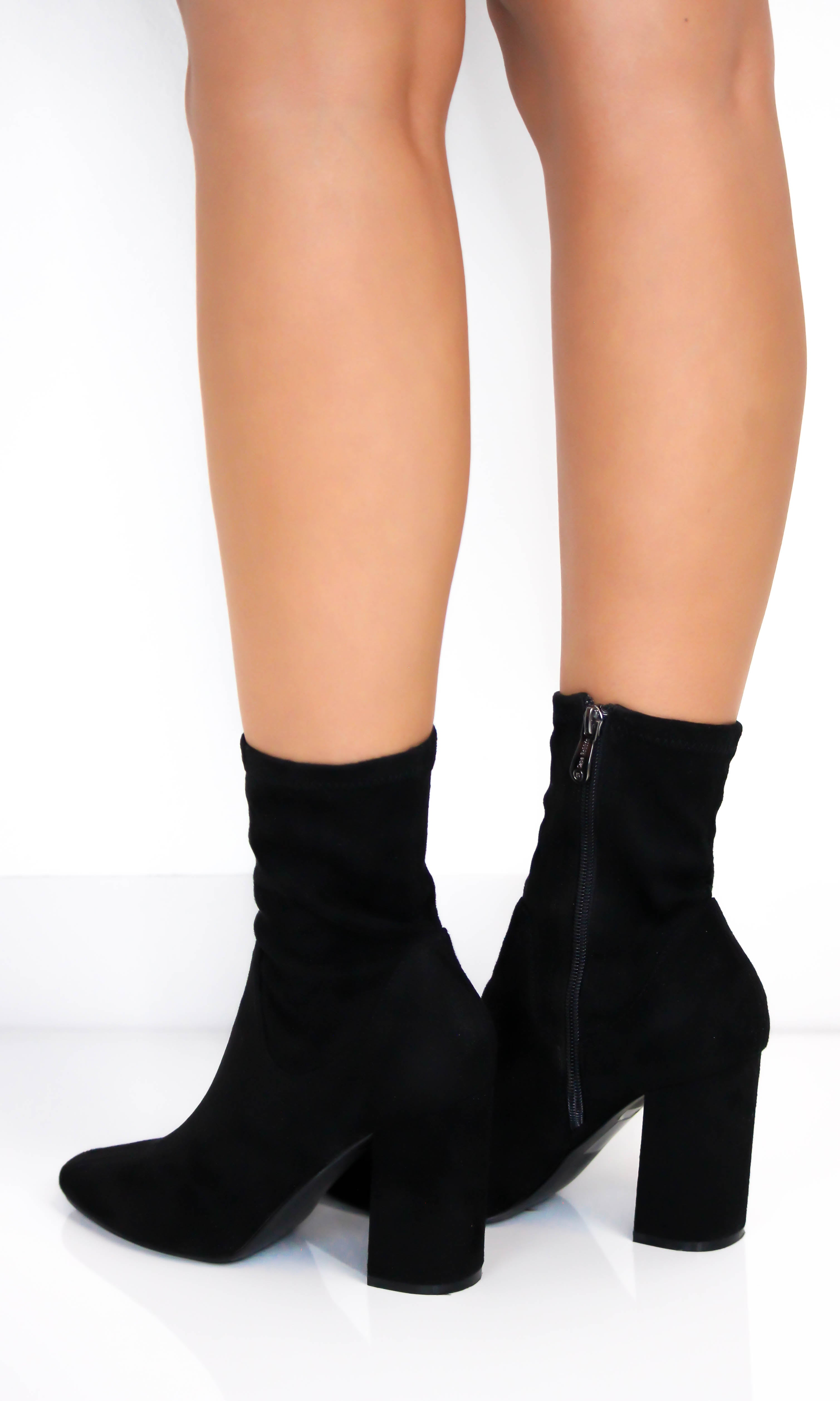 suede high ankle boots
