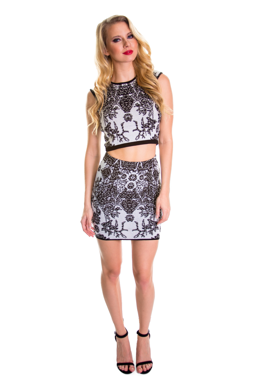 Jacquard Two Piece Set