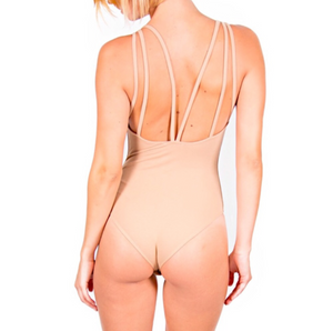 Nude Strappy Back Bodysuit