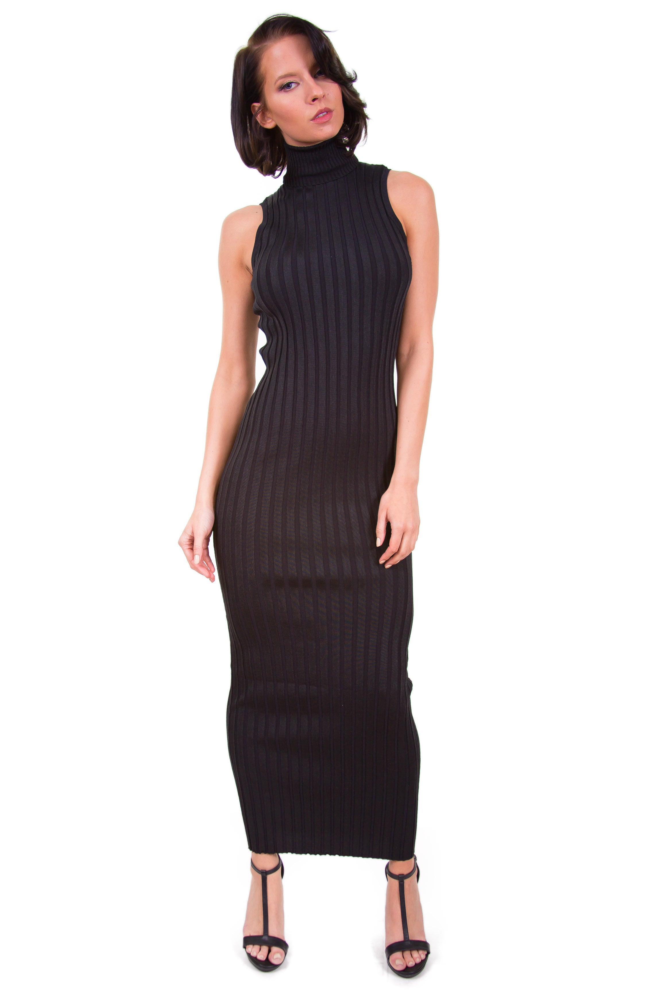 Turtle Ribbed Maxi Dress