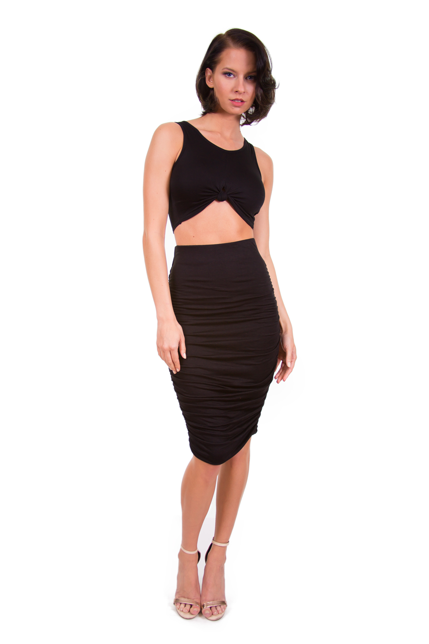 Double Lined Ruched Two Piece Set