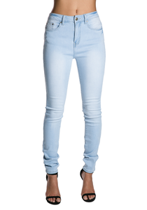 High Waist Knit Denim