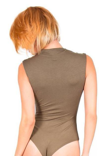 Olive Mock Turtle Neck Bodysuit